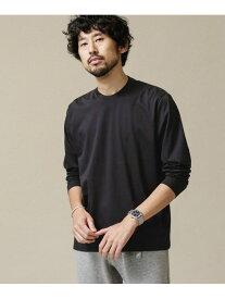 【SALE/10%OFF】ジャケT ロングスリーブ nano・universe ナノユニバース カットソー Tシャツ ブラック グレー ホワイト ブラウン ネイビー【RBA_E】[Rakuten Fashion]