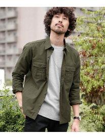 [Rakuten Fashion]【WEB限定】バックサテンライトミリタリーシャツ nano・universe ナノユニバース シャツ/ブラウス シャツ/ブラウスその他 カーキ グリーン ブラック【送料無料】