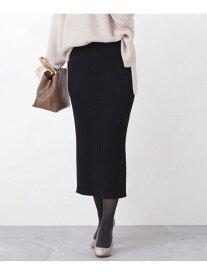 [Rakuten Fashion]【WEB限定】リブニットタイトスカート nano・universe ナノユニバース スカート スカートその他 ブラック グレー ブラウン ネイビー【送料無料】
