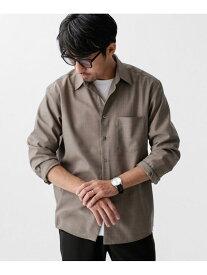 [Rakuten Fashion]【SALE/70%OFF】T/Wリラックスレギュラーカラーシャツ nano・universe ナノユニバース シャツ/ブラウス シャツ/ブラウスその他 ベージュ ネイビー【RBA_E】
