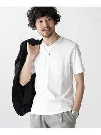 [Rakuten Fashion]【SALE/30%OFF】《汗染み防止》Anti Soaked ヘビーVネックTシャツ nano・universe ナノユニバース カットソー Tシャツ ホワイト パープル ネイビー カーキ グレー【RBA_E】