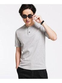 [Rakuten Fashion]《汗染み防止》Anti Soaked ヘビーヘンリーネック Tシャツ nano・universe ナノユニバース カットソー Tシャツ グレー カーキ ホワイト【送料無料】