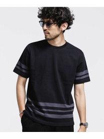 [Rakuten Fashion]【SALE/50%OFF】フォーメーションボーダーカットソー nano・universe ナノユニバース カットソー Tシャツ ブラック ブルー ネイビー ホワイト【RBA_E】