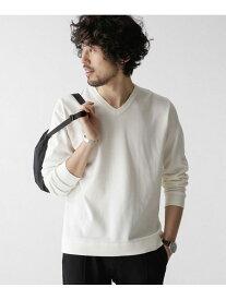 [Rakuten Fashion]思いきり洗えるニットファインゲージVネック nano・universe ナノユニバース カットソー Tシャツ ホワイト ブラウン ブラック グレー【送料無料】