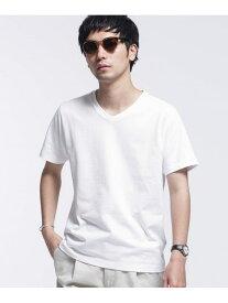 [Rakuten Fashion]【SALE/60%OFF】WHITENING LAB VネックTシャツ nano・universe ナノユニバース カットソー Tシャツ ホワイト【RBA_E】
