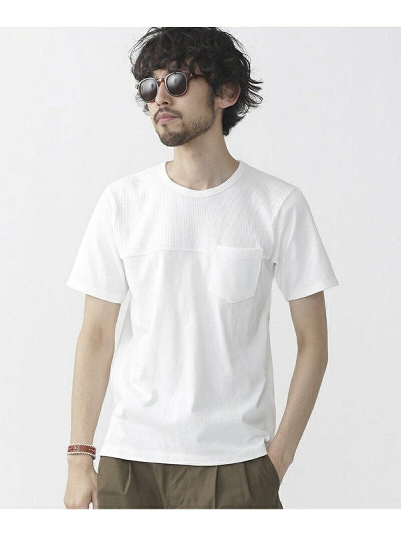 [Rakuten BRAND AVENUE]【SALE/60%OFF】異素材切り替えTシャツ S/S nano・universe ナノユニバース カットソー【RBA_S】【RBA_E】