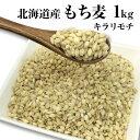 【新麦】国産 もち麦 1kg 希少な北海道産キラリモチ 100% 雑穀米に 食物繊維 食品 モチムギ 1キロ 無添加【メール便送…