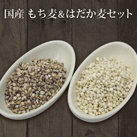 1kg×2個 国産 もち麦&押はだか麦 大麦 食べ比べセット 100% 媛もち麦 【送料無料】
