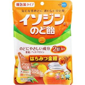 【ネコポス指定可能】イソジンのど飴はちみつ金柑個包装タイプ54g