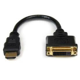 StarTech.com 20cm HDMI-DVI-D変換ケーブル オス/メス HDDVIMF8IN 目安在庫=○