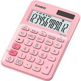 カシオ計算機(CASIO) カシオ 電卓 12桁 (ペールピンク)CASIO カラフル電卓 ミニジャストタ(MWC20CPKN) メーカー在庫品
