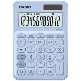 カシオ計算機(CASIO) カシオ 電卓 12桁 (ペールブルー)CASIO カラフル電卓 ミニジャストタ(MWC20CLBN) メーカー在庫品