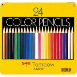 トンボ鉛筆 缶入色鉛筆 24色 NQ CB-NQ24C 目安在庫=○