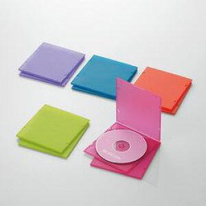 【P5E】エレコム CD DVDスリムPPケース 1枚収納 10パック アソート CCD-JPCS10ASO(CCD-JPCS10ASO) メーカー在庫品