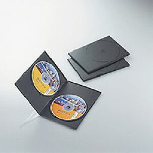 【P5E】エレコム DVDスリムトールケース 両面収納 3枚パック(ブラック) CCD-DVDS04BK(CCD-DVDS04BK) メーカー在庫品
