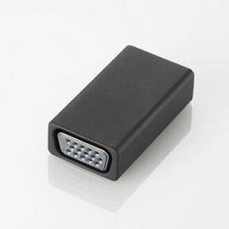 에레콤 HDMI 변환 어댑터/VGA/블랙 AD-HDMIVGABK 메이커 재고품