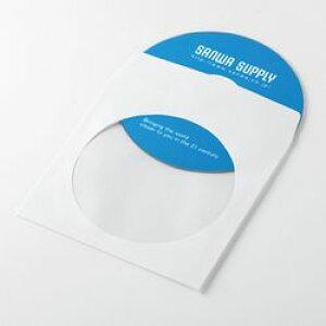 【P8S】サンワサプライ DVD・CDペーパースリーブケース 1枚収納 ホワイト 100枚入り(FCD-PS100WN) メーカー在庫品