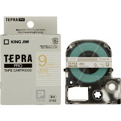 キングジム テプラPROテープ 9mm 透明/金文字 ST9Z 目安在庫=○