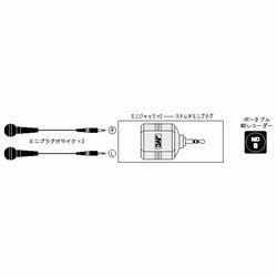 JVCケンウッド AP-212A 変換プラグ ミニジャック*2→ステレオミニプラグ メーカー在庫品