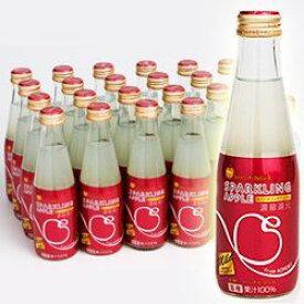 シャイニー 青森の味!スパークリングアップル マイルド 瓶 200ml×24本(03930181) 目安在庫=○