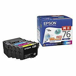 純正品 EPSON (エプソン) IC4CL76 ビジネスインクジェット用 インクカートリッジ(4色パック) (IC4CL76) 目安在庫=○
