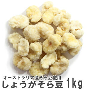 しょうがそら豆1kg 業務用大袋 南風堂 チェリー豆 オーストラリア産そら豆使用の生姜砂糖がけ
