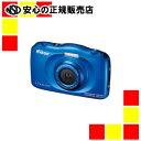 【キャッシュレス5%還元】《ニコン》 デジタルカメラ COOLPIX W100BL ブルー