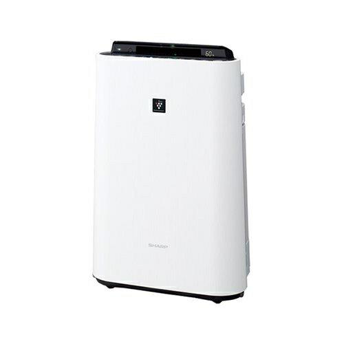 シャープ(SHARP)加湿空気清浄機ホワイト系 [空気清浄〜23畳/加湿〜13畳][高濃度プラズマクラスター70000][ウイルス][脱臭][静電][スピード吸塵][花粉][ニオイ][加湿][清浄][使い捨てプレフィルター6枚付]