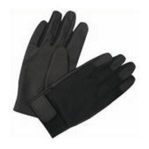 中部物産貿易 ゴム手袋 ドットサイバー 黒 DC63LL/4418