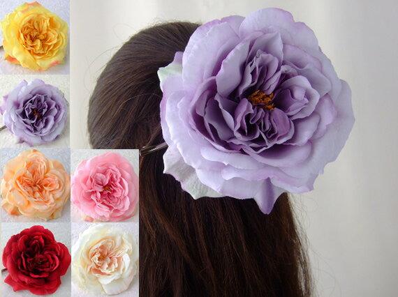 品揃え多数! ヘアクリップ ダッカール バラ HACP-05 シルクフラワー 造花 髪飾り ヘアアクセ くちばしクリップ ヘアアクセサリー ヘアピン 髪留め コサージュ 花