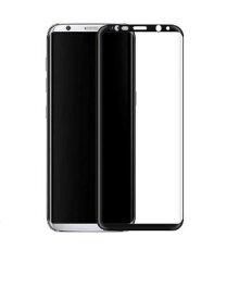 Galaxy S8 docomo SC-02J au SCV36 3D 全面 液晶保護 ガラスフィルム フルカバー 透明9H超硬質自動吸着 高光沢ブラック