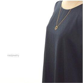 ギフト レディース ネックレス ゴールド ママ友 プレゼント naotjewelry Double strand of circle Necklace