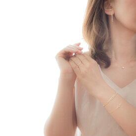 レディース ジルコニア ネックレス ゴールド naotjewelry 14kgf Round CZ Necklace