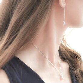 ネックレス レディース 金属アレルギー シルバー925 一粒 おしゃれ かわいい【GINGER 掲載】naotjewelry Silver925 Teardrop Necklace