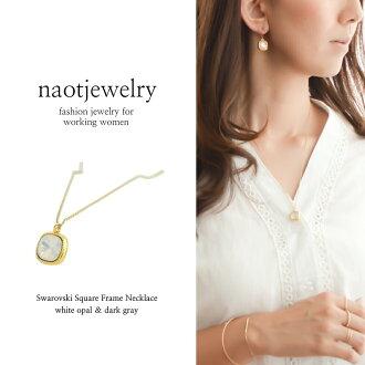 신작 스왈로브스키 목걸이 골드 기프트 선물 레이디스 심플 크리스마스 생일 Swarovski(White Opal) Necklace