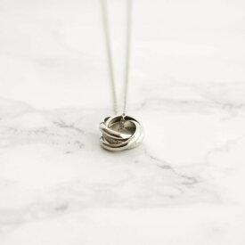 レディース ネックレス シルバー ゴールド シンプル ギフト プレゼント naotjewelry Triple Ring Necklace (gold & silver)