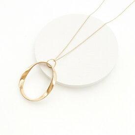 ギフト レディース ネックレス ゴールド ロング ギフト プレゼント naotjewelry Oval Twist Circle Necklace