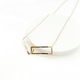 レディース ネックレス ゴールド ギフト プレゼント naotjewelry Rectangle Hoop Necklace