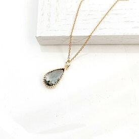 ギフト レディース ネックレス ガラス しずく型 セット 華奢 シンプル ママ友 プレゼント naotjewelry Cut Frame Glass Necklace