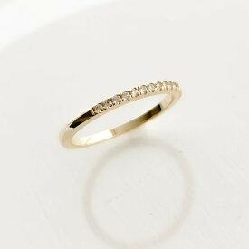 ギフト レディース リング シンプル キュービックジルコニア ゴールド プレゼント naotjewelry Harf Eternity Ring #11