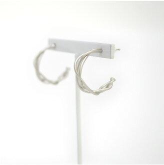 피어스 레이디스 후프 실버 기프트 선물 선물 심플 크리스마스 생일 기념일:Silver Twist Hoop Pierce 20P03Dec16