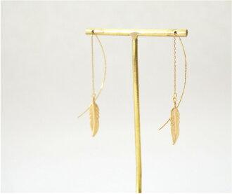피어스 레이디스 아메리칸 패더 골드 기프트 선물 선물 심플 크리스마스 생일 기념일:Feather American Pierce 20P03Dec16