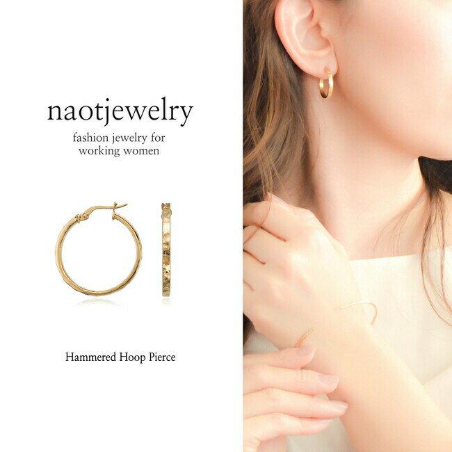 【1,000円OFF! スーパーSALE!】naotjewelry Design Cut Hoop Pierce レディース ピアス ステンレス アレルギー 痛くない 華奢 シンプル