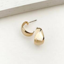 レディース ピアス ゴールド シルバー フープ 痛くない 華奢 シンプル ギフト プレゼント naotjewelry Bow Line Hoop Pierces