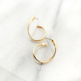 レディース ピアス ゴールド フープ 金属アレルギー 華奢 シンプル ギフト プレゼント naotjewelry Kainari Hoop Pierces