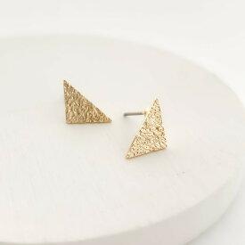 レディース ピアス ゴールド イヤリング ノンホールピアス チタン 金属アレルギー 痛くない 華奢 シンプル ママ友 プレゼント naotjewelry stardust triangle pierce