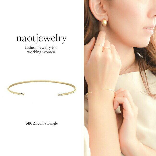 naotjewelry 14K Zirconia Bangle レディーズ バングル ジルコニア ステンレス ゴールド