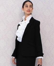 420342ddfe0ec 《セットアップスーツ対応》 ポンチ テーラード ジャケット 長袖 セットアップ スーツ フォーマル オフィス ビジネス OL 上品