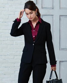 f3221a455f292  スーツ対応商品 パールジャージ ピークドラペル 長袖 ジャケット トップス ジャケット ビジネス オフィス デイリー