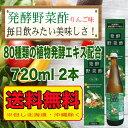 【送料無料!北海道・沖縄は除く】 発酵野菜酢 りんご味720ml 2本